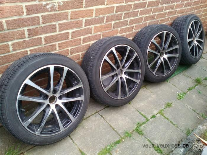 4 pneus Bridgestone + jantes