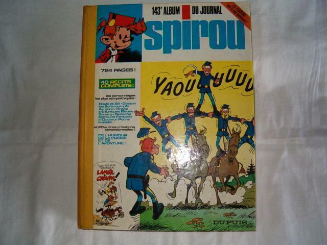 Album Spirou relié éditeur no 143 année 1976