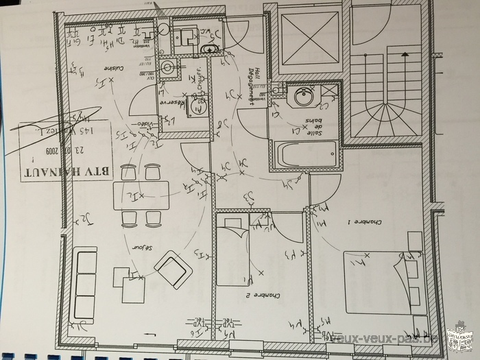 Appartement centre de la louviere à louer