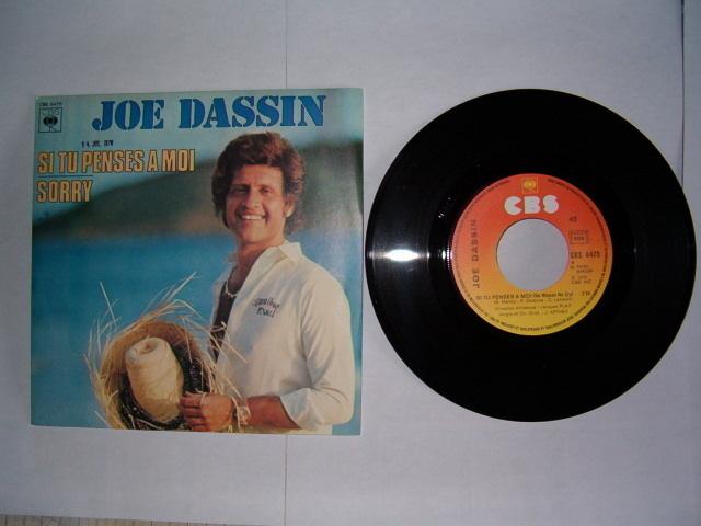 Disque vinyle 45 trs Joe Dassin
