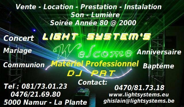 Location Son & Lumière pour toutes activités