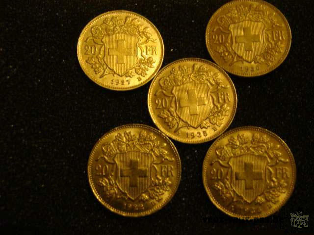 Lot de 15 pieces de 20 francs or