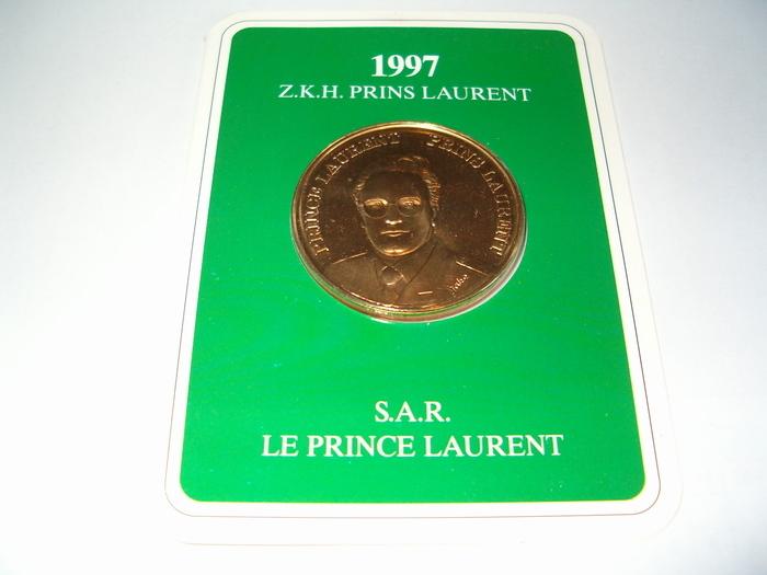 Médaille S.A.R. Le Prince Laurent 1997 (Français et Néerlandais) Monnaie Royale de Belgique